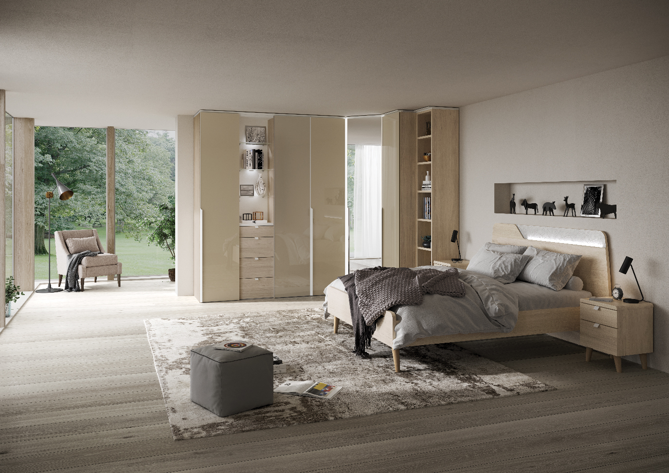 CHAMBRE BLOOM CHENE NATUREL